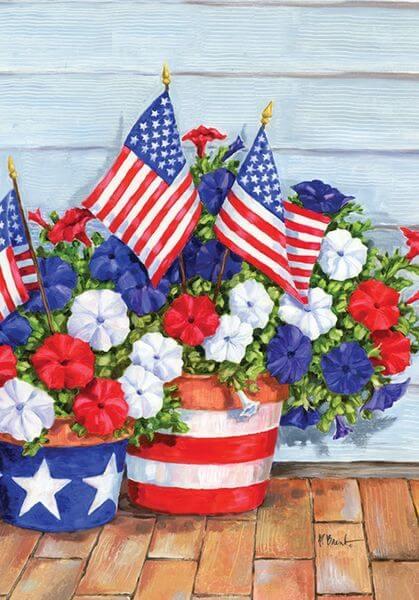 Patriotic Garden Flags Golly Gee Gardening