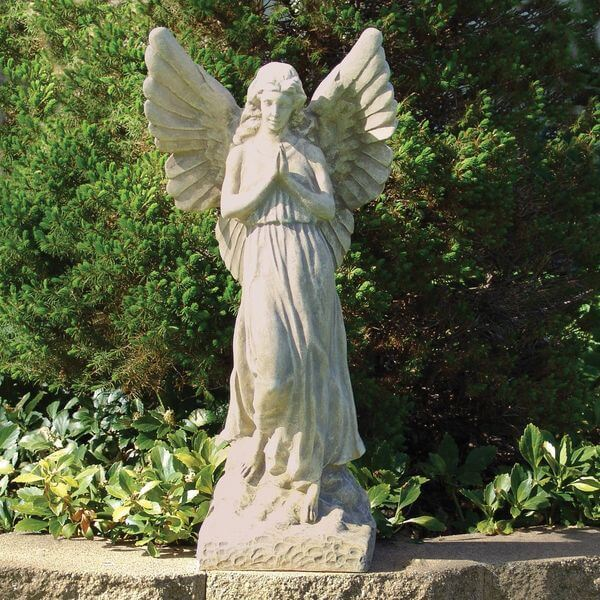 Sculptural Gardens 23-Inch Guardian Angel Statuary