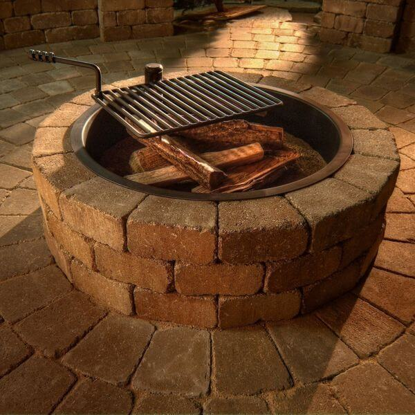 Brick fire pits golly gee gardening for Brick fire pit construction