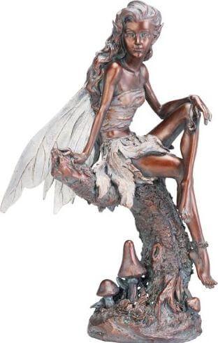 Napco Bronze Fairy Figure Garden Statue