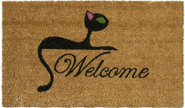 Rubber-Cal Kitty Cat Doormat, 18 x 30-Inch