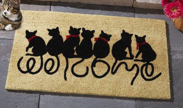 Collections Etc Welcome Kitties Front Door Mat