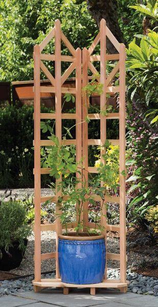 Arboria Deco Freestanding Corner Trellis