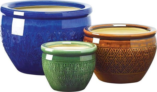 Gifts & Decor Jewel Tone Flower Pots