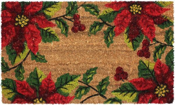 J & M Home Fashions Christmas with Vinyl Back Coco Doormat