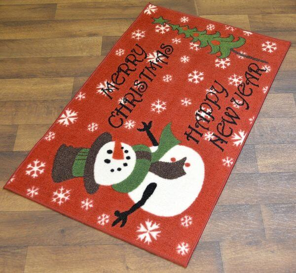 Snowman Merry Christmas Doormat