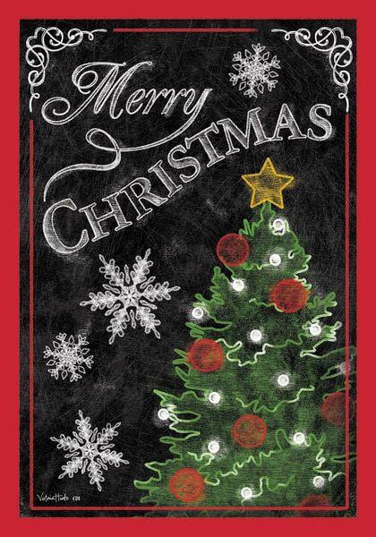 'Merry Christmas Tree' Double Sided Christmas Garden Flag