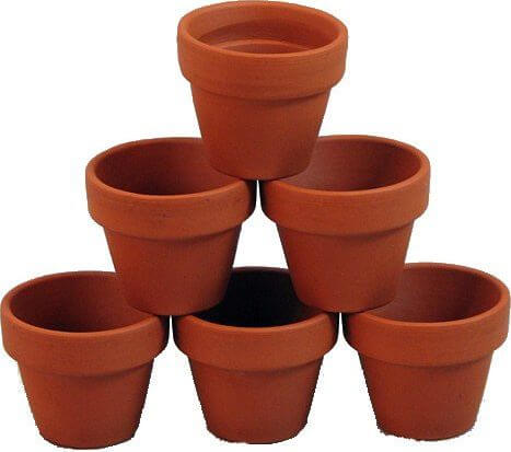 10 - 3 x 2 1/2 Clay Flower Pots