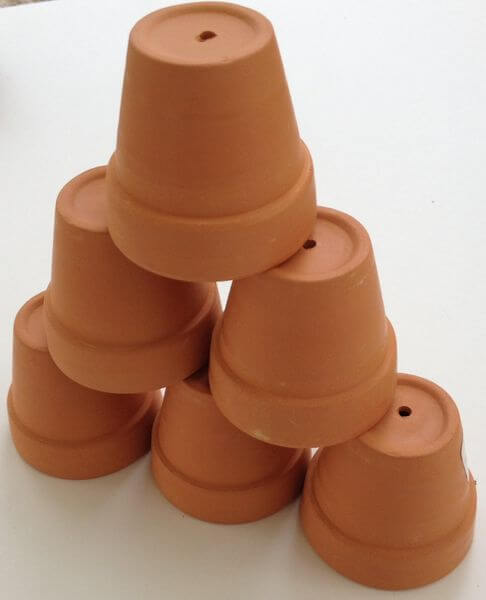 Mini Terra Cotta Clay Pots - Set of 6