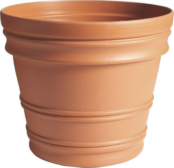 Fiskars 16-Inch Rolled Rim Pot, Clay Color