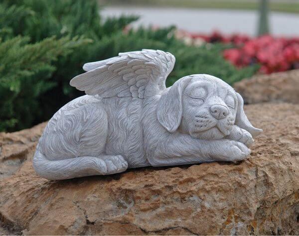 Design Toscano Memorial Angel Dog Statue