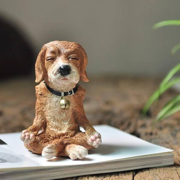 Dog in Meditation Garden Statue