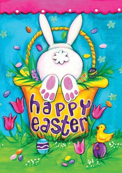 Toland 'Bunny Tail' Easter Garden Flag