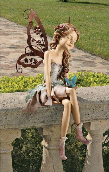 Design Toscano Fannie, the Fairy Garden Statue