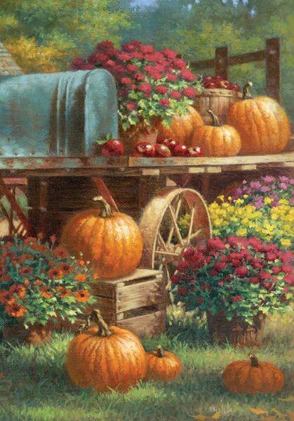 Toland 'Farm Pumpkin' Fall Garden Flag
