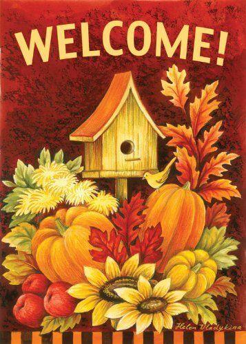 Toland 'Fall Birdhouse' Fall Garden Flag