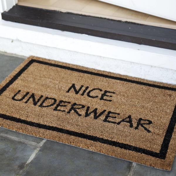 Entryways Non Slip Nice Underwear Coir Doormat
