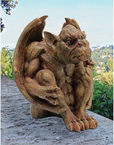 Design Toscano Balthazar's Watch Gargoyle Garden Statue