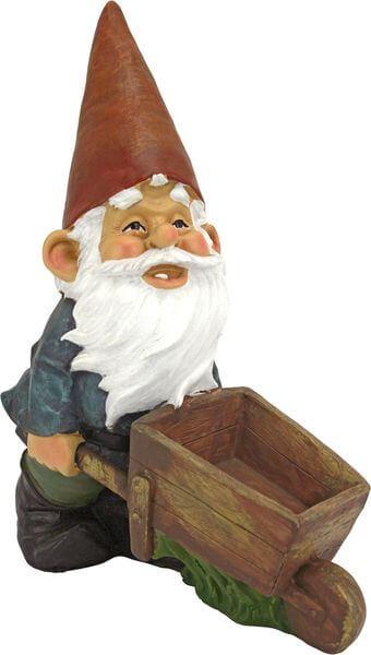 Design Toscano Wheel Barrel Willie Garden Gnome Statue
