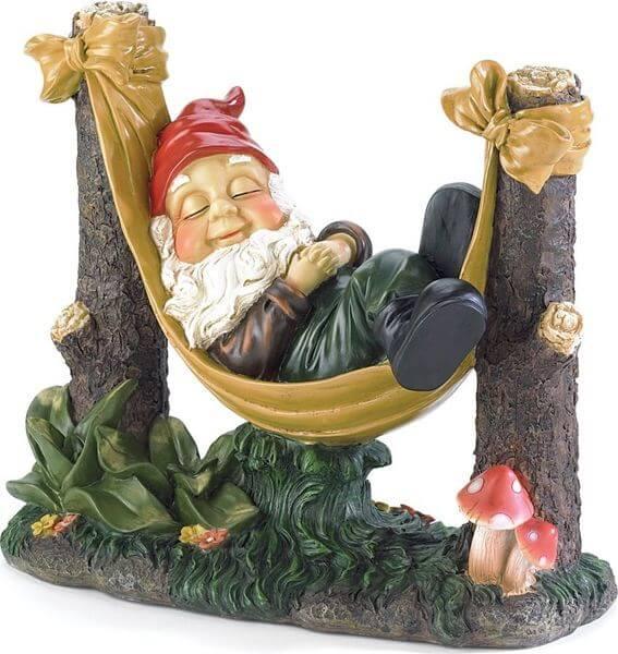 Gifts & Decor Slumbering Gnome Garden Statue