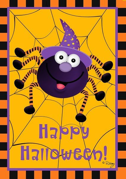 Briarwood Lane Spider Halloween Garden Flag