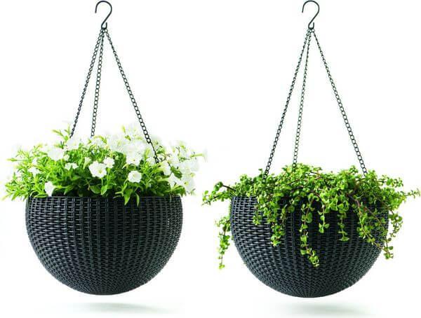 Keter Round Plastic Resin Garden Plant Hanger