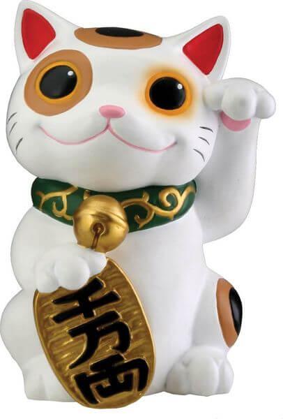Maneki Neko Money Lucky Cat Chinese Japanese Garden Statue