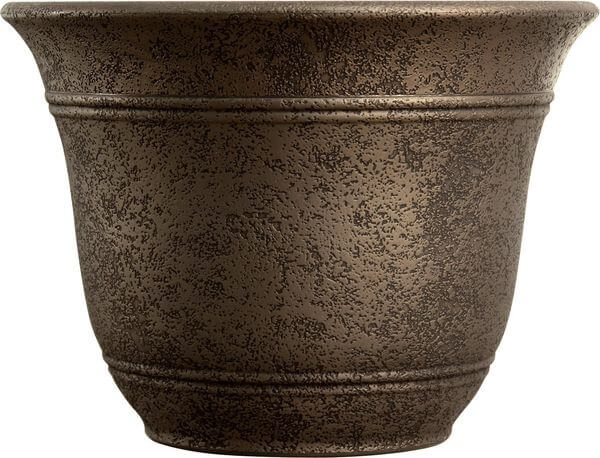 Listo Sierra Large Flower Pot, Nordic Bronze