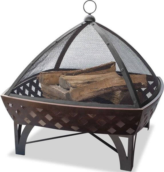 Endless Summer Outdoor Fire Bowl with Lattice, Oil Rubbed Bronze