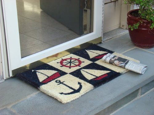 Kempf Nautical Design Rubber Backed Coco Doormat