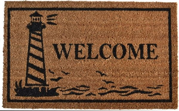 Imports Décor Vinyl Backed Coir Doormat, Guiding Light