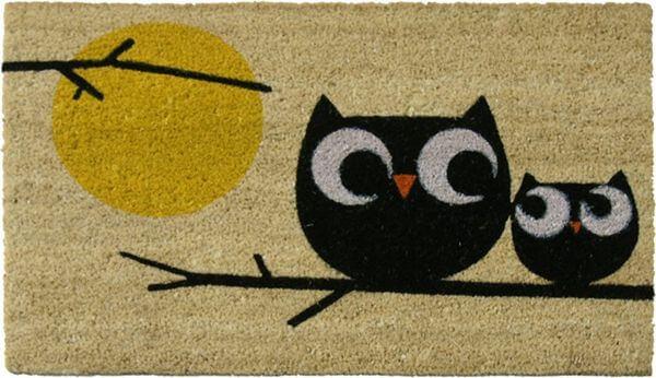 Rubber-Cal Owl Doormat