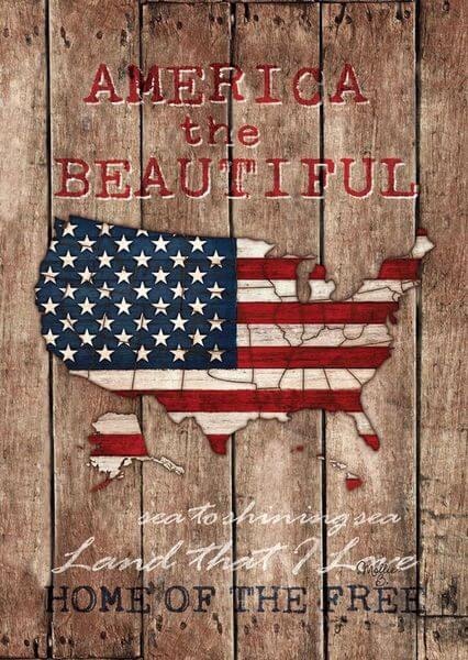 America the Beautiful Patriotic Garden Flag