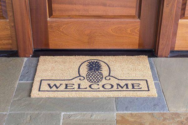 DeCoir 'Pineapple Welcome' Coir Doormat