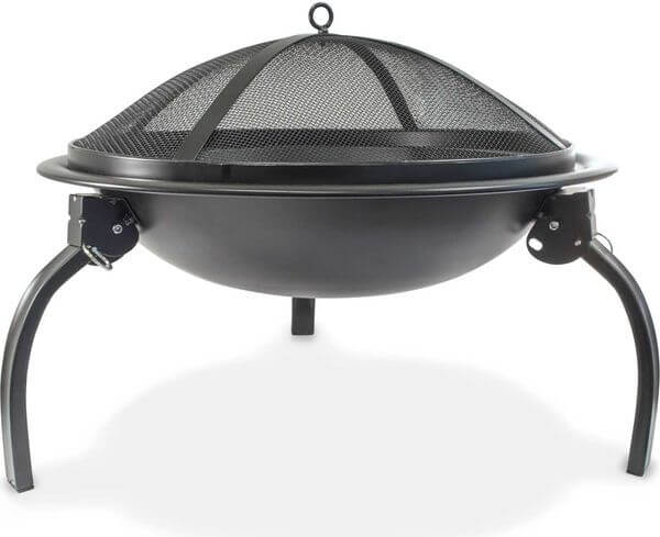 Durable 22-inch Portable Folding Fire Pit