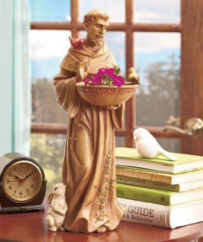 'St. Francis Bird Feeder' Garden Statue