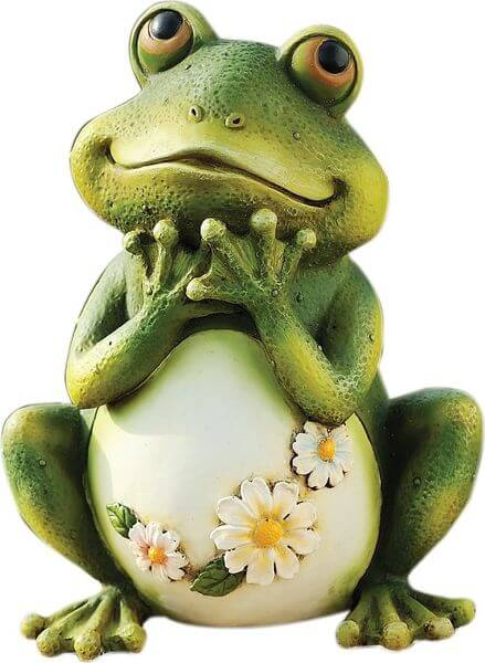 Tall Frog Sitting Up Garden Statue