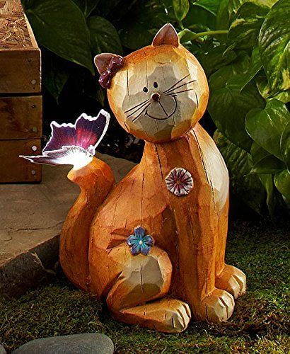 Fiber Optic Solar Garden Cat