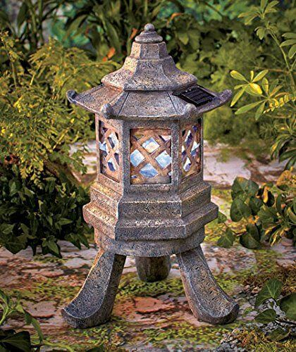 Beau Solar Hexagon Pagoda Garden Light