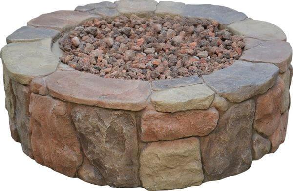 Bond Mfg Pinyon Gas Stone Look Fire Pit