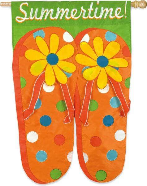 Summertime Flip Flops Garden Flag