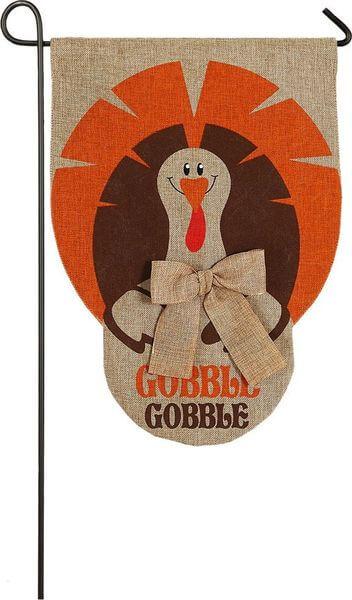 Gobble Turkey Garden Flag