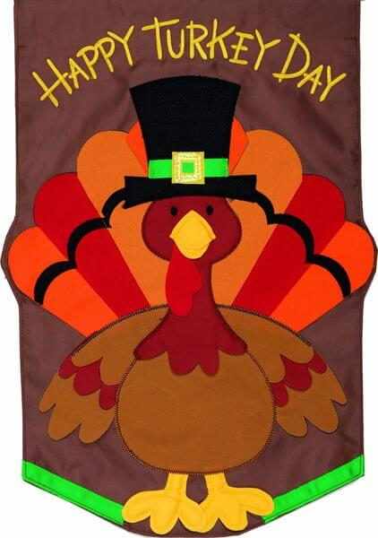 'Happy Turkey Day' Garden Flag