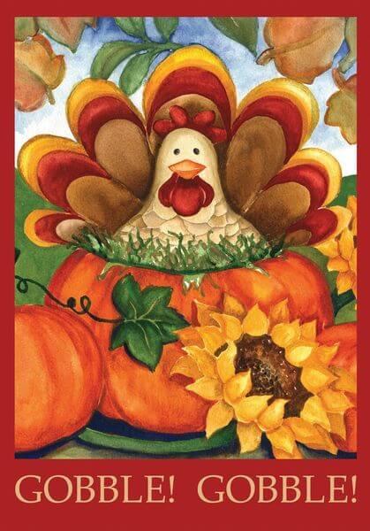 Toland 'Autumn Turkey' Thanksgiving Garden Flag