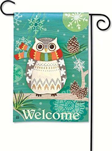 Winter Owl Garden Flag