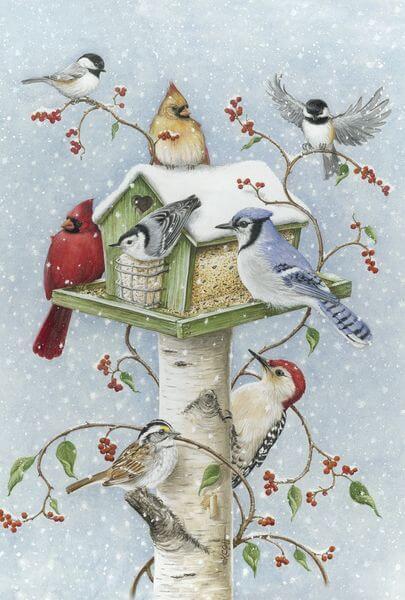 Toland 'Winter Birds' Garden Flag