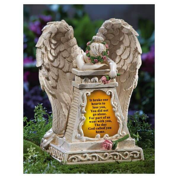 Solar Lighted Weeping Angel Garden Statue