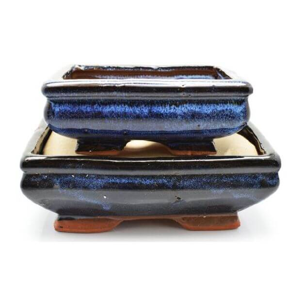9GreenBox - 2 Ceramic Bonsai Pots
