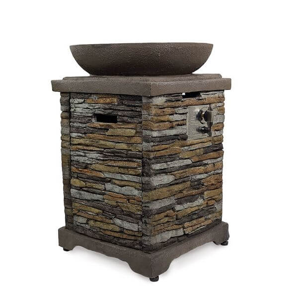 Brick Firebowl Patio Heater Outdoor Fire Pit with Cover