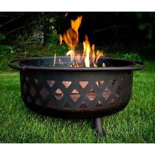 Sunnydaze Large Bronze Crossweave Fire Pit